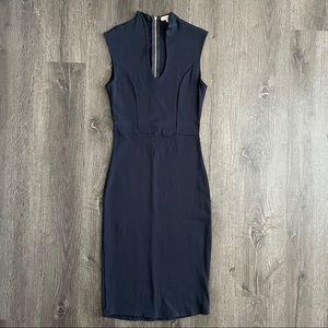Navy Midi Sleeveless Dress (S/M)